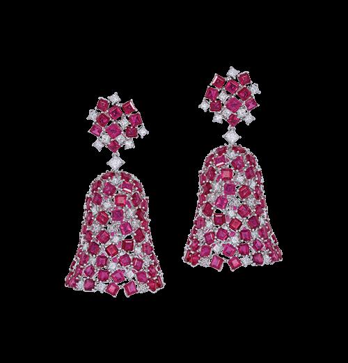 The ruby bell earrings
