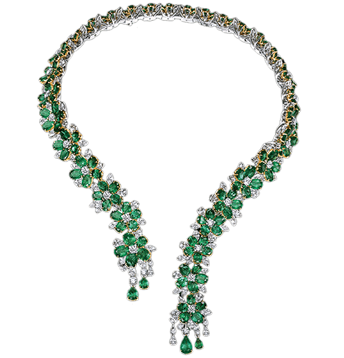 Zambian Emerald And Diamond Necklace