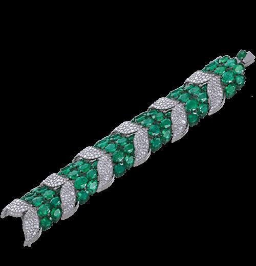 Emerald and rosecut earrings
