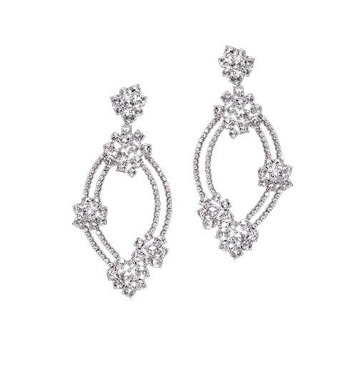 Rosecut And Diamond Earrings
