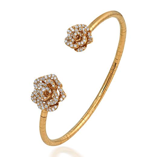 Mini Rose diamond necklace