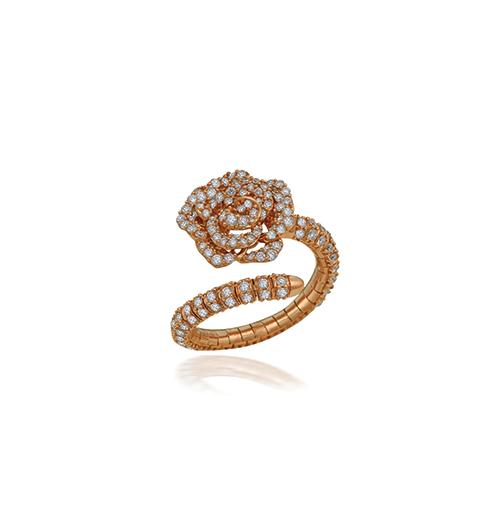 Mini Rose diamond ring